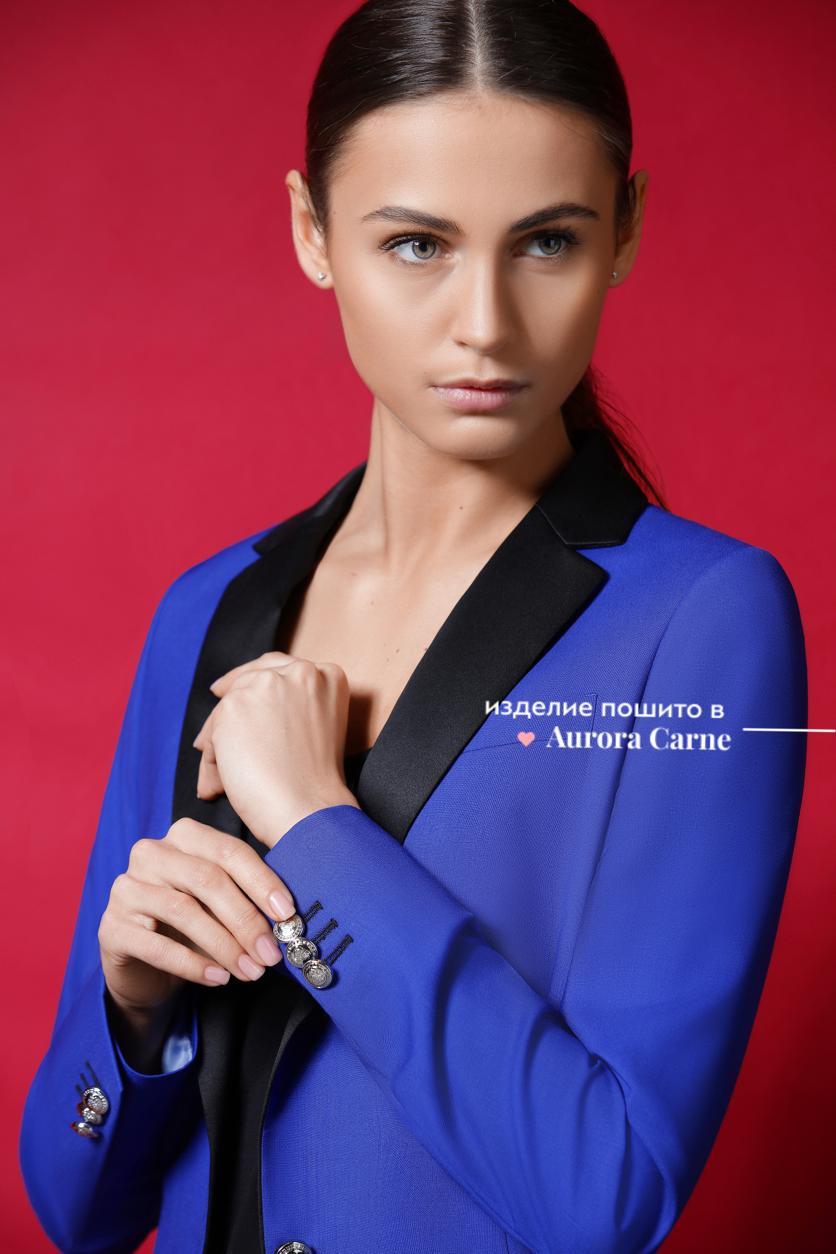 Женский костюм, женский смокинг, синий женский костюм, синий женский смокинг